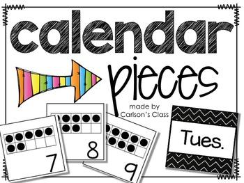 Calendar Pieces -- 10 Frames