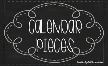 Calendar Pieces-Chalkboard Theme