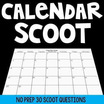 Calendar Scoot Game