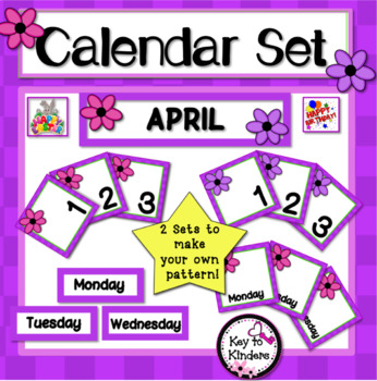 Calendar Set - April - Spring Flowers