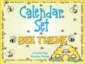 Calendar Set ~ Bee Theme ~ UPDATED