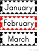 Calendar Set - Black, White & Red Polka Dot