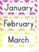 Calendar Set - Bright Chevron