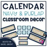 Calendar Set Display {Navy, Burlap, Turquoise Decor}