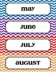 Calendar Set - Rainbow Chevron Theme
