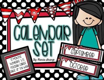 Calendar Set - Red and Black Theme