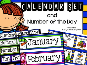 Calendar Set and Number of the Day