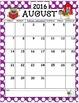 2016-2017 Calendar Set with Monster Theme
