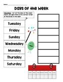 Calendar Skills Cut & Paste
