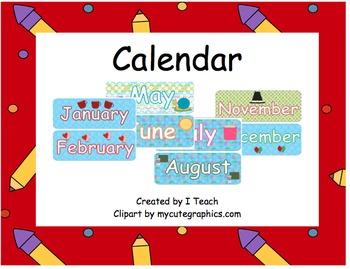 Calendar Squares & Months~ Bundle