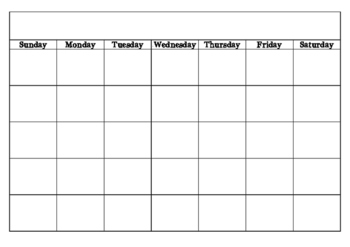 Calendar Template { freebie }