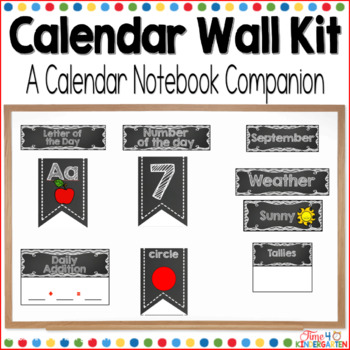 Calendar Time Wall Kit (editable) with Black and White Chevron