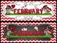 Calendar Toppers & Dates III {Red Chevron} Back to School
