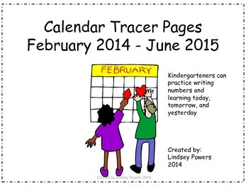Calendar Tracer Pages February 2014 – June 2015