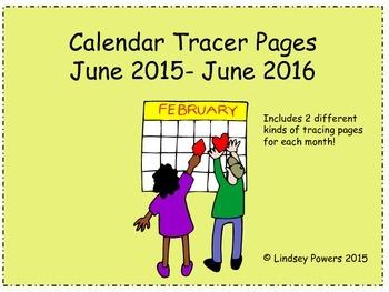 Calendar Tracing Practice 2015-2016