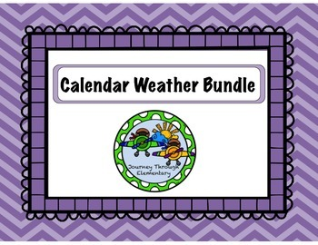 Calendar Weather Bundle PURPLE