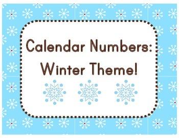 Calendar: Winter Theme (Pocket Chart)