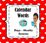 Calendar Words Worksheets: Tracing and Writing (Pre-Kinder