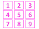 Calendar and Number Labels (Pink Version)
