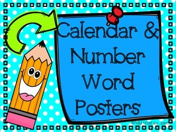 Calendar and Number Posters