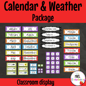 Daily Classroom Calendar and Weather Package
