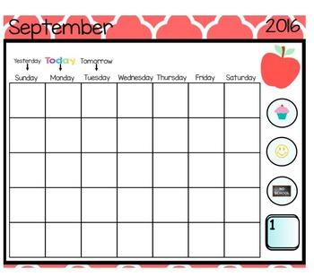 Calendar for SmartBoard