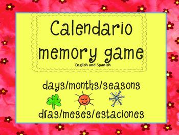 Calendar memory game-Spanish