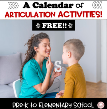 Calendar of Speech Activities:  black and white