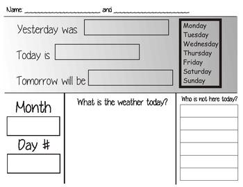 Calendar writing routine