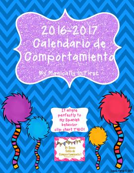 Calendario de Comportamiento -Behavior calendar 2016-2017