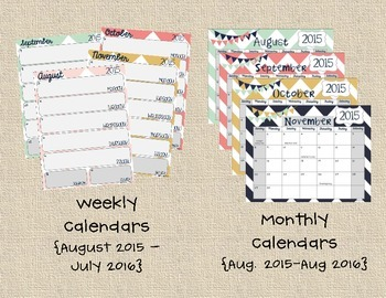 Calendars - Weekly & Monthly