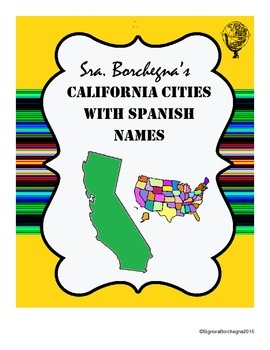 California Cities with Spanish Names - 2 page version