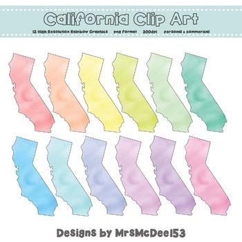 California Clip Art Graphic Set - Rainbow Pastels {Persona