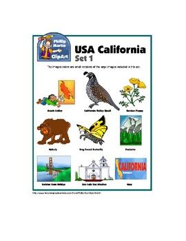 California Clip Art Unit 1