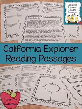 California Explorers Reading Passages {Cabrillo, Drake, an