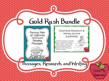 California Gold Rush BUNDLE {Reading Passages, Research, a
