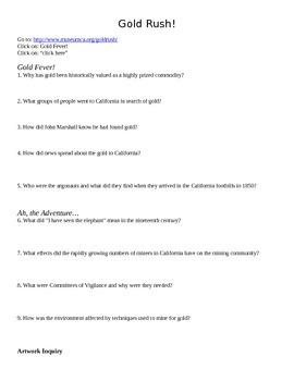California Gold Rush web activity