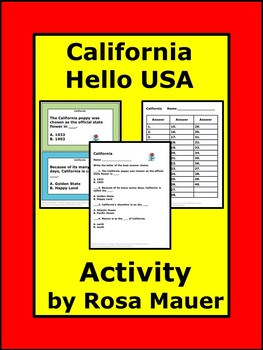 California Hello USA Comprehension Questions