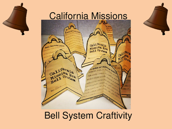 California History Mission Bell System Craftivity
