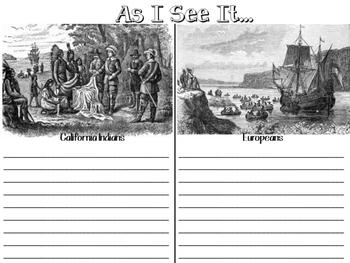 California Indians vs. Europeans Graphic Organizer