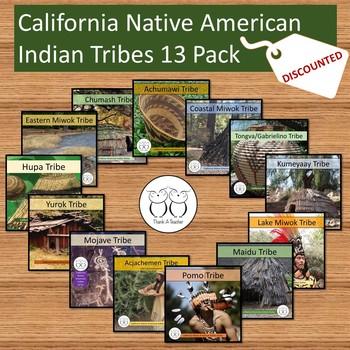 California Native American Tribe 13 Pack Mojave Miwok Pomo