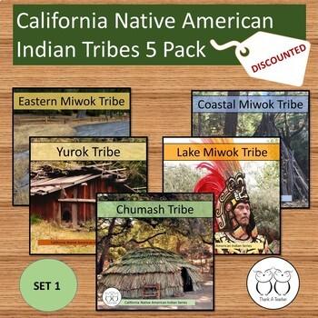 California Native American Tribe 5 Pack Chumash Yurok Lake