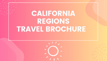 California Regions Travel Brochure
