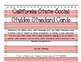 California Social Studies Kindergarten Standards Display Cards