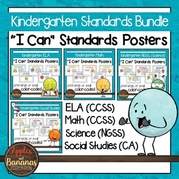 California Standards for Kindergarten - All Subjects - Pos
