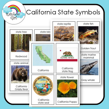 California State Symbol Cards