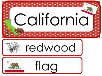California State Word Wall Bulletin Board Set. Geography C
