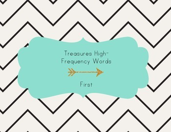 California Treasures First Grade High Frequency Words Asse