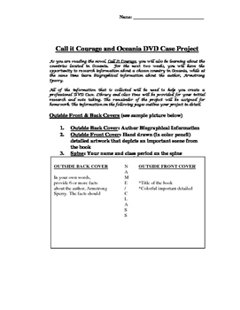 Call It Courage DVD Book Report Project