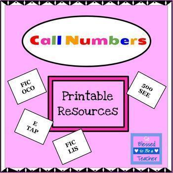 Call Number Printable Resources